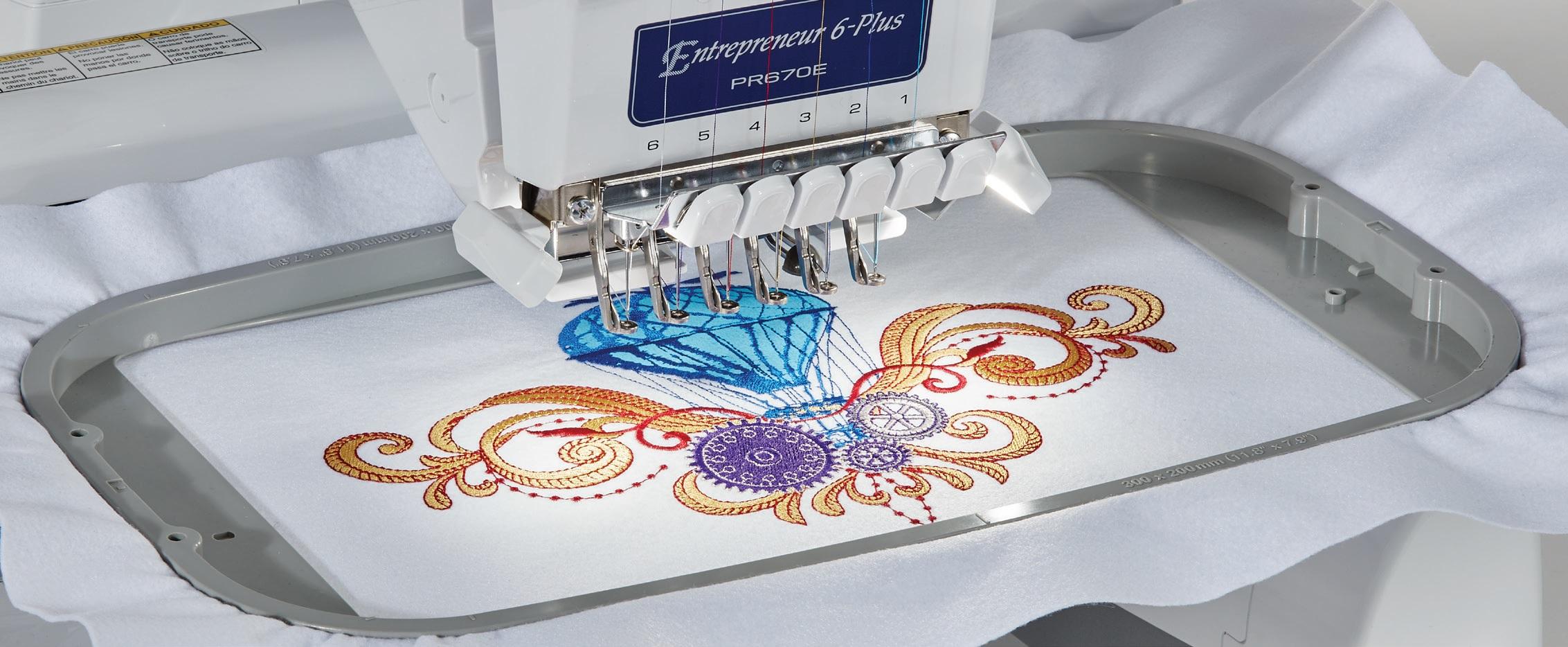 large embroidery area pr670e